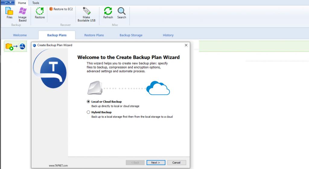 TAPNET Cloud Backup Client